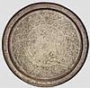 Getriebenes Messingtablett, Persien um 1900
