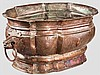 Barocker Weinkühler aus Kupfer, süddeutsch um 1730