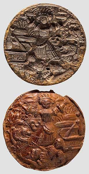 Seltene hölzerne Lebkuchenmodel, Nürnberg um 1540