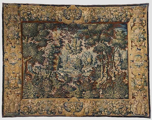 A Flemish large-size gobelin tapestry, 2nd half of the 17th century