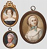 Drei Portrait-Miniaturen, 1. Hälfte 19. Jhdt.