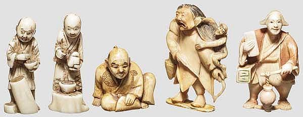 Gruppe Netsukes, Meiji-Periode