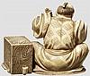 Okimono eines Papiermachers, Meiji-Periode