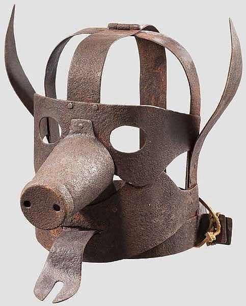 Schandmaske, Sammleranfertigung im Stil des 17. Jhdts.