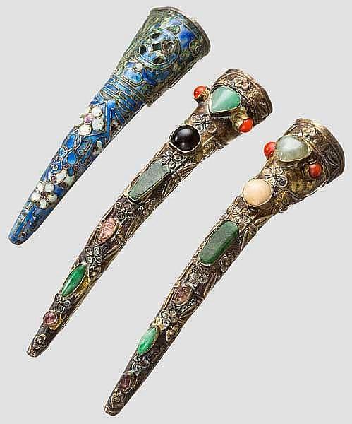Drei Fingernagel-Schoner, China, späte Quing-Periode