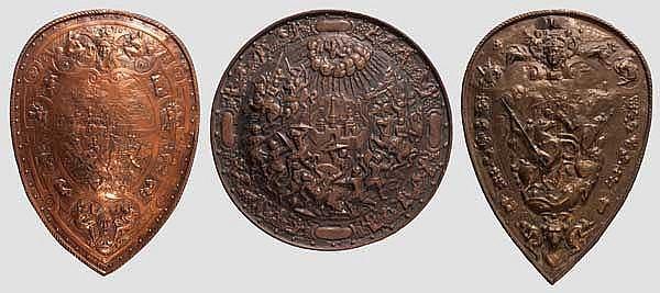 Drei Dekorationsschilde, Historismus im Stil des 16. Jhdts.