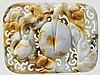 Gürtelplatte aus geschnittener Jade, China, frühes 20. Jhdt.