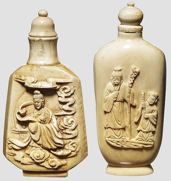 Zwei Schnupftabakflaschen, China, 19. Jhdt.