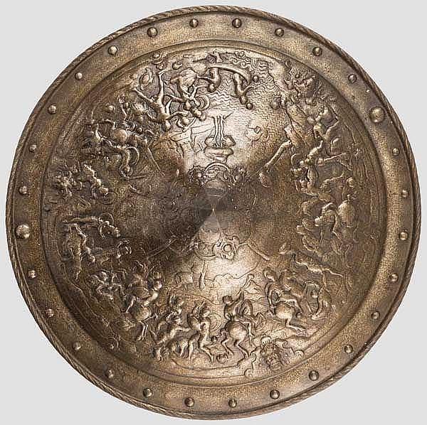 Gusseiserner Renaissance-Prunkschild, Historismus im Stil um 1550