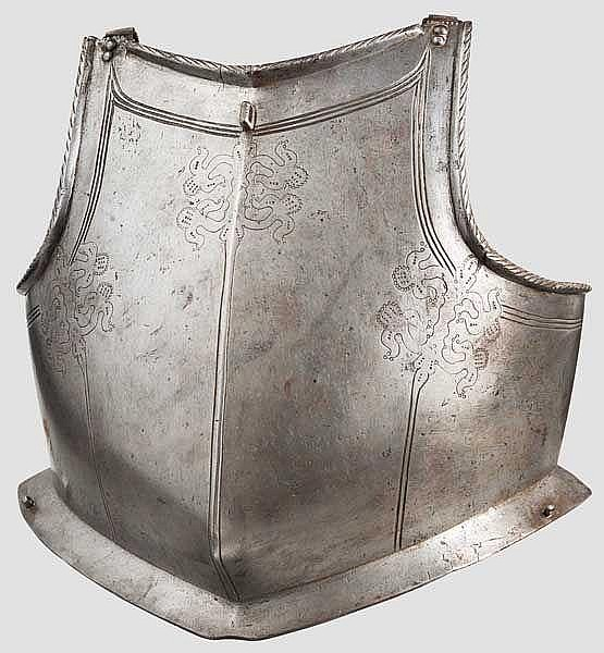 Kugelfeste Brustplatte, flämisch(?) um 1600