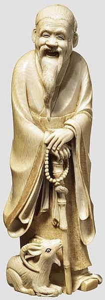 Okimono des Senin Lao Kun, Taisho-Periode