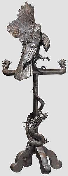 Bronzefigur Adler, Japan, Meiji-Periode