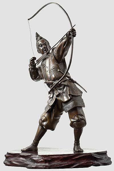 A Japanese Samurai archer, Meiji period