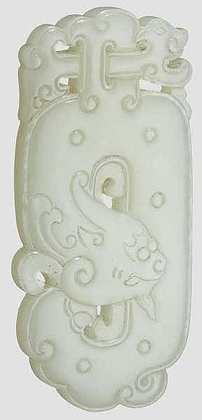 Geschnittenes Jade-Ornament, China, Qing-Dynastie, 18. Jhdt.