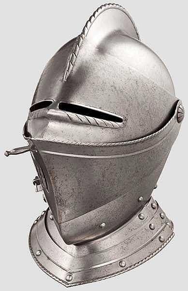 Geschlossener Helm, Italien, im Stil um 1590