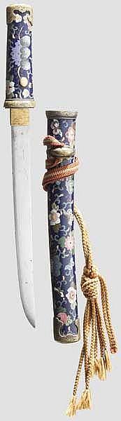 Aikuchi mit Cloisonné-Montierung, Japan, Ende Edo-/frühe Meiji-Periode