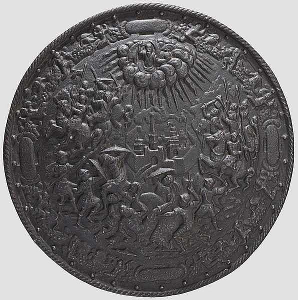 Gusseiserner Rundschild im Stil der Renaissance, Historismus im Stil um 1600