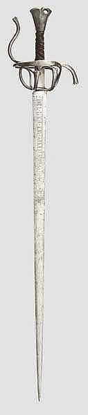 A Tyrolian campaign sword, Ambras type, circa 1600