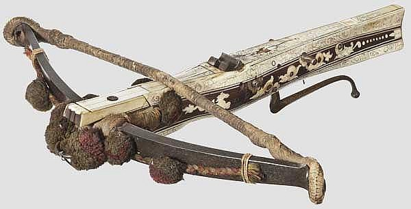 A high-quality German Renaissance crossbow from the Collection of the Royal House of Hanover, late 16th century