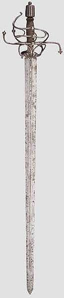 A heavy German small sword, circa 1600