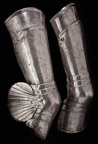 A pair of German or Flemish Gothic cuisses, circa 1490 - 1500