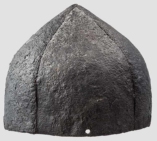 An eastern European four-plate helmet, 11th century