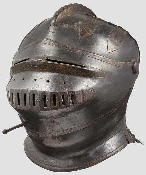 Geschlossener Helm, Mitte 16. Jhdt.