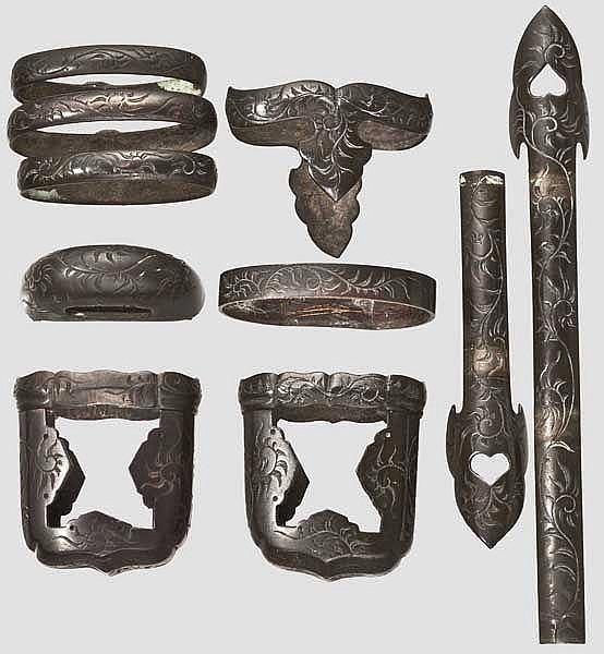 Handachibeschläge, Japan, Mitte Edo-Periode