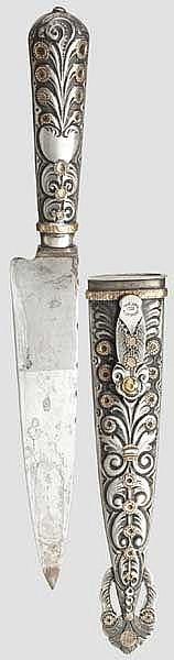 Goldverziertes Gaucho-Messer, Argentinien, 1. Hälfte 20. Jhdt.