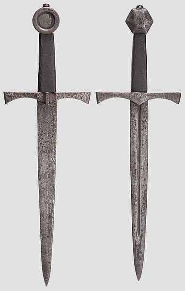 Zwei Dolche, Sammleranfertigungen im Stil des 14. Jhdts.
