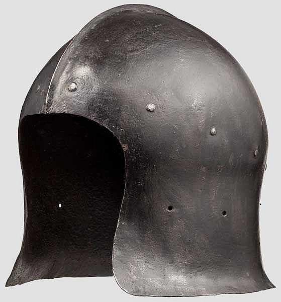 Barbuta im Stil um 1460