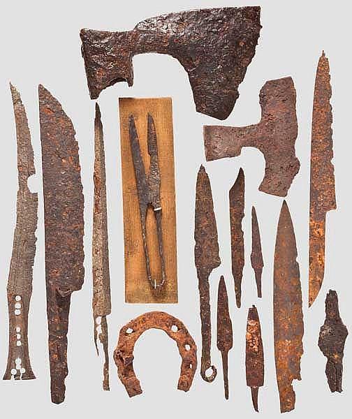 Sammlung Messer und Werkzeuge, Mittelalter bis frühe Neuzeit