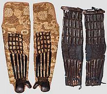 Zwei Paar Shinokote, Japan, Mitte Edo-Periode
