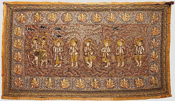 A South East Asian wall hanging, 19th/20th century