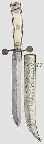 Jagdliches Messer, französisch, aus der Zeit Napoleons III.