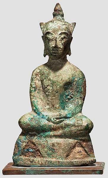 Kleiner Buddha, Burma, 17./18. Jhdt.