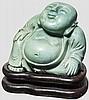 Kleine Buddha-Skulptur aus Türkis, China, 20. Jhdt.