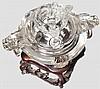 Geschnittene Deckelvase aus Bergkristall, China, 19. Jhdt.