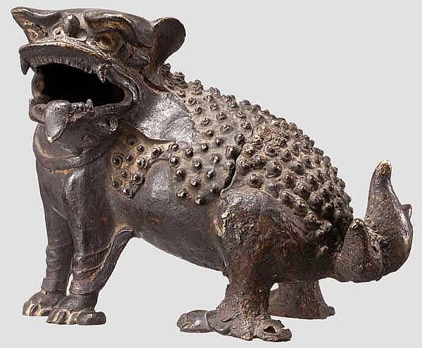 Foo-Löwe aus Bronze, China, Ming-Periode