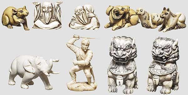 Sammlung Elfenbeinfiguren, China u.a., 19./20. Jhdt.