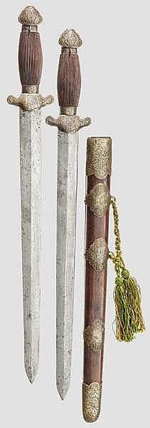 Doppelschwert, China um 1900