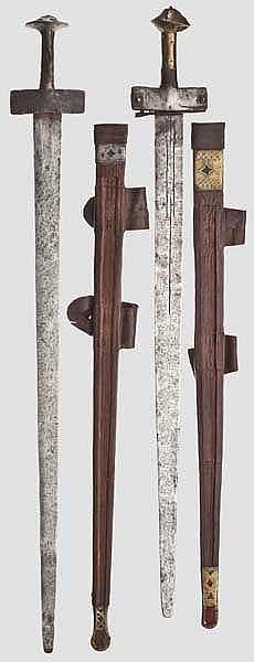 Zwei Schwerter der Tuareg, Nordafrika, 1. Hälfte 20. Jhdt.