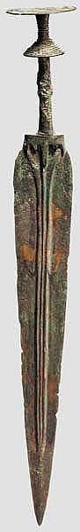 Bronzeschwert mit Scheibenknauf, nordiranisch, spätes 2. - frühes 1. Jtsd. v. Chr.