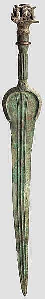 Bronzevollgriffschwert, iranisch, Ende 2. - frühes 1. Jtsd. v. Chr.