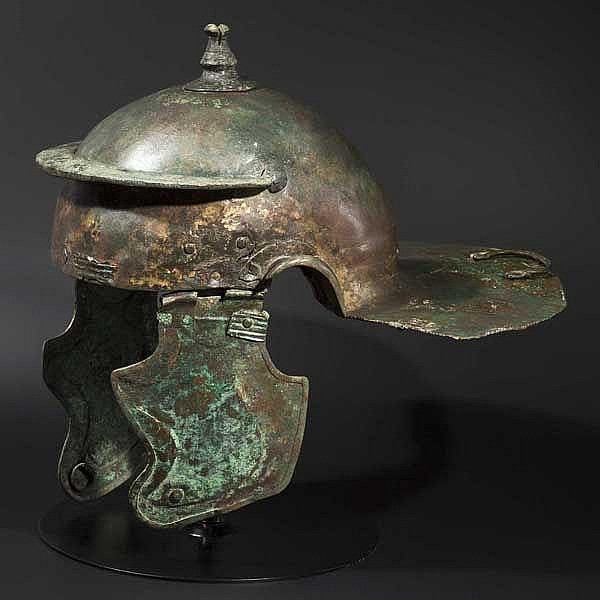 A Roman bronze infantry helmet, Weisenau type, 2nd half of 1st - early 2nd century