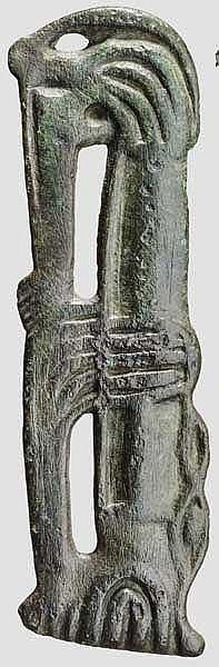 Applik vom Pferdegeschirr mit Tierdarstellung, thrako-skythisch, 5. - 4. Jhdt. v. Chr.