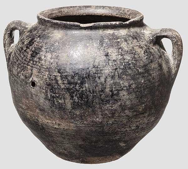 Vorratsgefäß der anatolischen Kupferzeit mit geglättetem Korpus, 4. Jtsd. v. Chr.