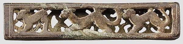 Messerbeschlag mit Durchbruchsmuster, römisch, 3. Jhdt.