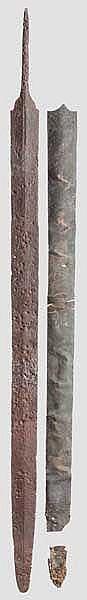 Eisenschwert mit verzierter Bronzescheide, Mittlere Latènezeit, 3. - 2. Jhdt. v. Chr.