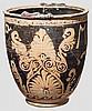 Rotfigurige Situla mit figuralem Dekor, großgriechisch, 4. Jhdt. v. Chr.
